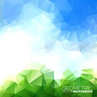 Vector triangoli geometrici sullo sfondo. Disegno astratto cielo poligonale.