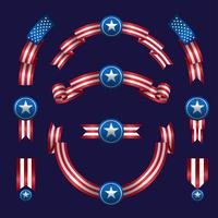 American Ribbon Set