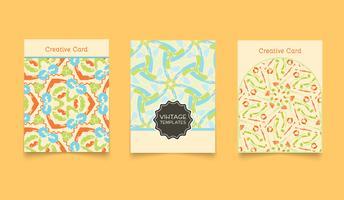 Sjabloon etnische creatieve kaarten.