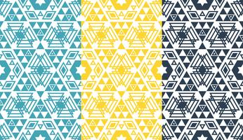 Retro geometric hexagon seamless pattern