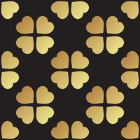 Modèle sans couture or avec des feuilles de trèfle, symbole de la Saint-Patrick en Irlande
