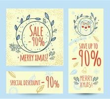 Christmas sale design template web banner