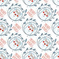 Christmas pattern with polar bears.
