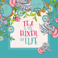 Tea time design banner templates set