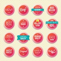 set van vintage badges en labels,