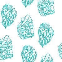 Seamless  pattern with crystals