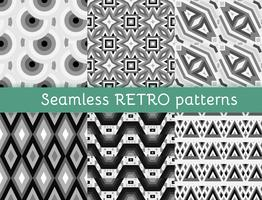Set of six ethnic seamless patterns.
