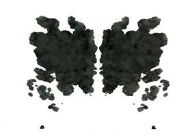 Rorschach inkblot test  random abstract background