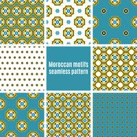 Portuguese Azulejos set of patterns vector