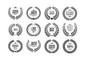 Collection de couronnes de laurier de qualité supérieure isolée