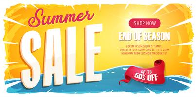 Summer Sale Wide Banner vector