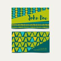 Business card  background. Trend green flash color.