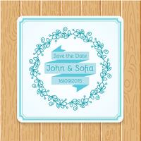 Vintage floral wedding invitation square shape