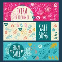 Sale banner hand drawn