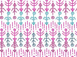 Ethnic seamless pattern. Aztec background.