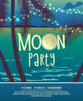 Flyer for the full moon party.