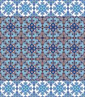 Portuguese azulejo tiles. Blue and white gorgeous seamless patte