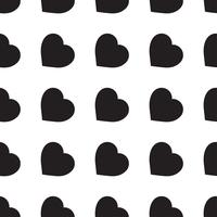 Monochrome seamless pattern with hearts vector