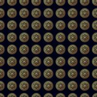 Gold flower seamless pattern.