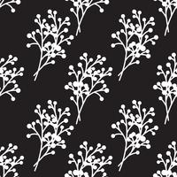 branches black and white seamless pattern.