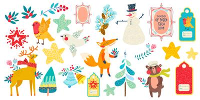 Christmas magic animal prints and other elements.