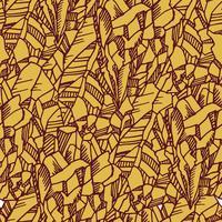 Naadloos zwart-wit patroon met kristallen