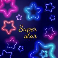 Brillantes estrellas de neón