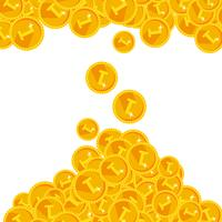 Warm golden festive shining money shower background