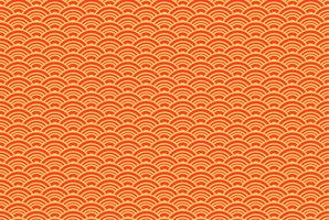 Oriental seigaiha seamless pattern.  Vintage background