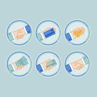 Vector betaling pictogrammen
