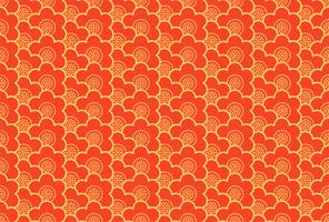 Japanese ornament with sakura flowers  seamless pattern vector