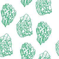 Naadloos patroon met kristallen