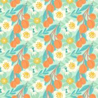 Vector Hand Drawn Peach Background