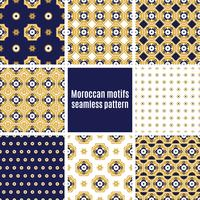 Conjunto de patrones árabes sin costura,