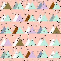 Seamless vintage abstract pattern with triangles in the style of 80 s.