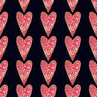 Patrón oro transparente con corazones.