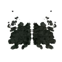 Rorschach inkblot test , random abstract background