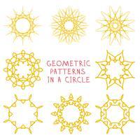 Ornamenti geometrici rotondi