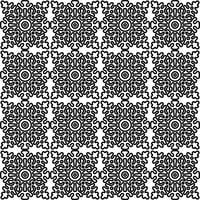 seamless pattern with national Russian lace black and white.