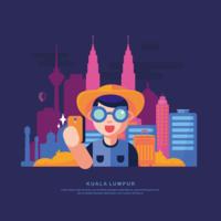 Vecteur de Kuala Lumpur