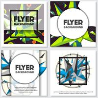 Low Poly Flyer style background diseño plantilla