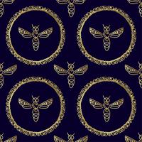 Modèle sans couture avec abeille
