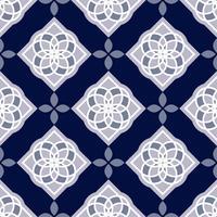 Portugisiska azulejoplattor. Blå och vita underbara sömlösa mönster.