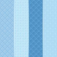 Vektor Blå Seamless Patterns