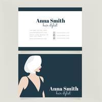 Vector Hair Stylist Business Card