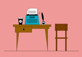 Kostenlose Schreibtischvektor