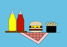 Kostenlose Burger Vector