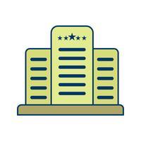 Five Star Hotel Vector Icon