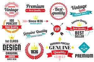 Vintage Retro Vector Labels for banner