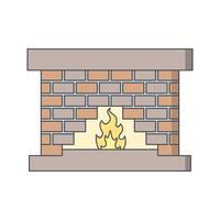 Fire Place Vector Icon